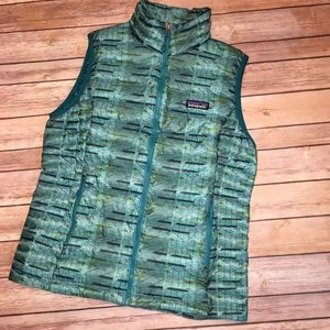 PATAGONIA Down Sweater Vest, Medium, Strait Blue